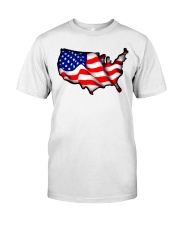 USA flag map Premium Fit Mens Tee tile