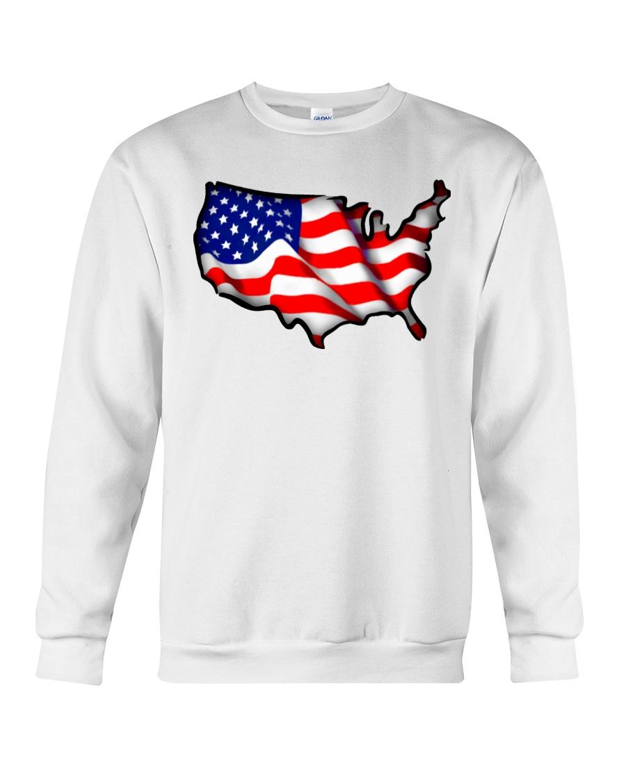 USA flag map Crewneck Sweatshirt