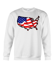USA flag map Crewneck Sweatshirt front