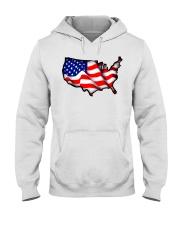 USA flag map Hooded Sweatshirt thumbnail