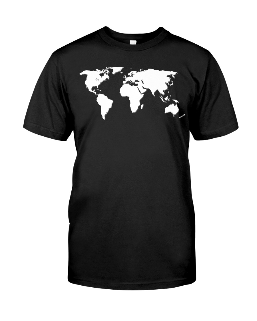 World Map Premium Fit Mens Tee