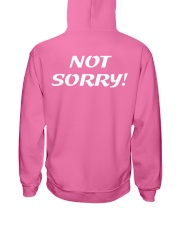 Sorry Not Sorry Hooded Sweatshirt back