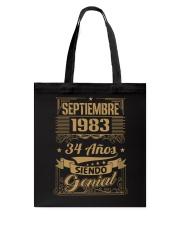 Septiembre 1983 Tote Bag thumbnail
