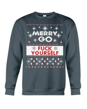MERRY GO FUCK YOURSELF Crewneck Sweatshirt front