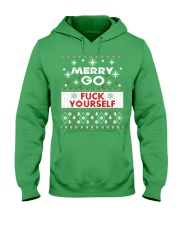 MERRY GO FUCK YOURSELF Hooded Sweatshirt thumbnail