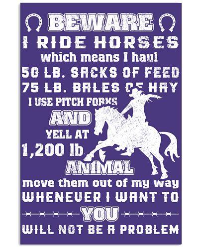 I RIDE HORSES