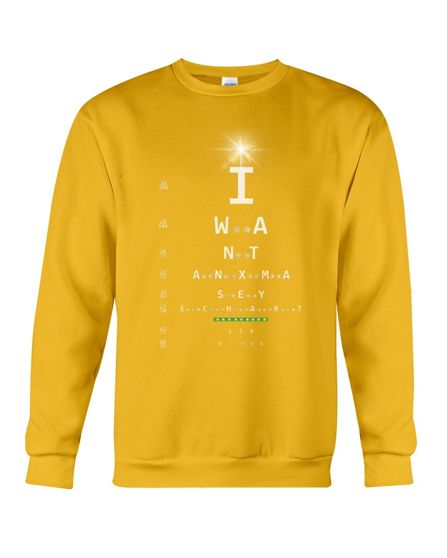 Eye Chart Crewneck Sweatshirt