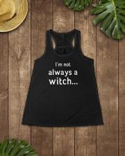 I'm not always a witch Ladies Flowy Tank lifestyle-bellaflowy-tank-front-6