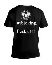 I'm not always a hussy V-Neck T-Shirt back