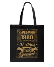Septiembre 1980 Tote Bag thumbnail
