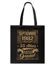 Septiembre 1982 Tote Bag thumbnail