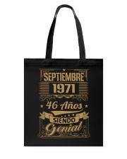 Septiembre 1971 Tote Bag thumbnail