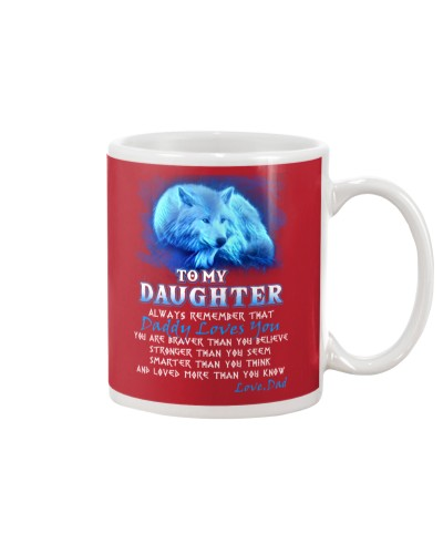 Wolf Daddy Loves You Daughter Dad