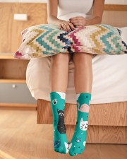 Beautiful Cat  Crew Length Socks aos-accessory-crew-length-socks-lifestyle-front-01