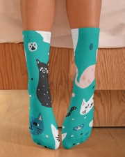 Beautiful Cat  Crew Length Socks aos-accessory-crew-length-socks-lifestyle-front-02