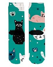 Beautiful Cat  Crew Length Socks back