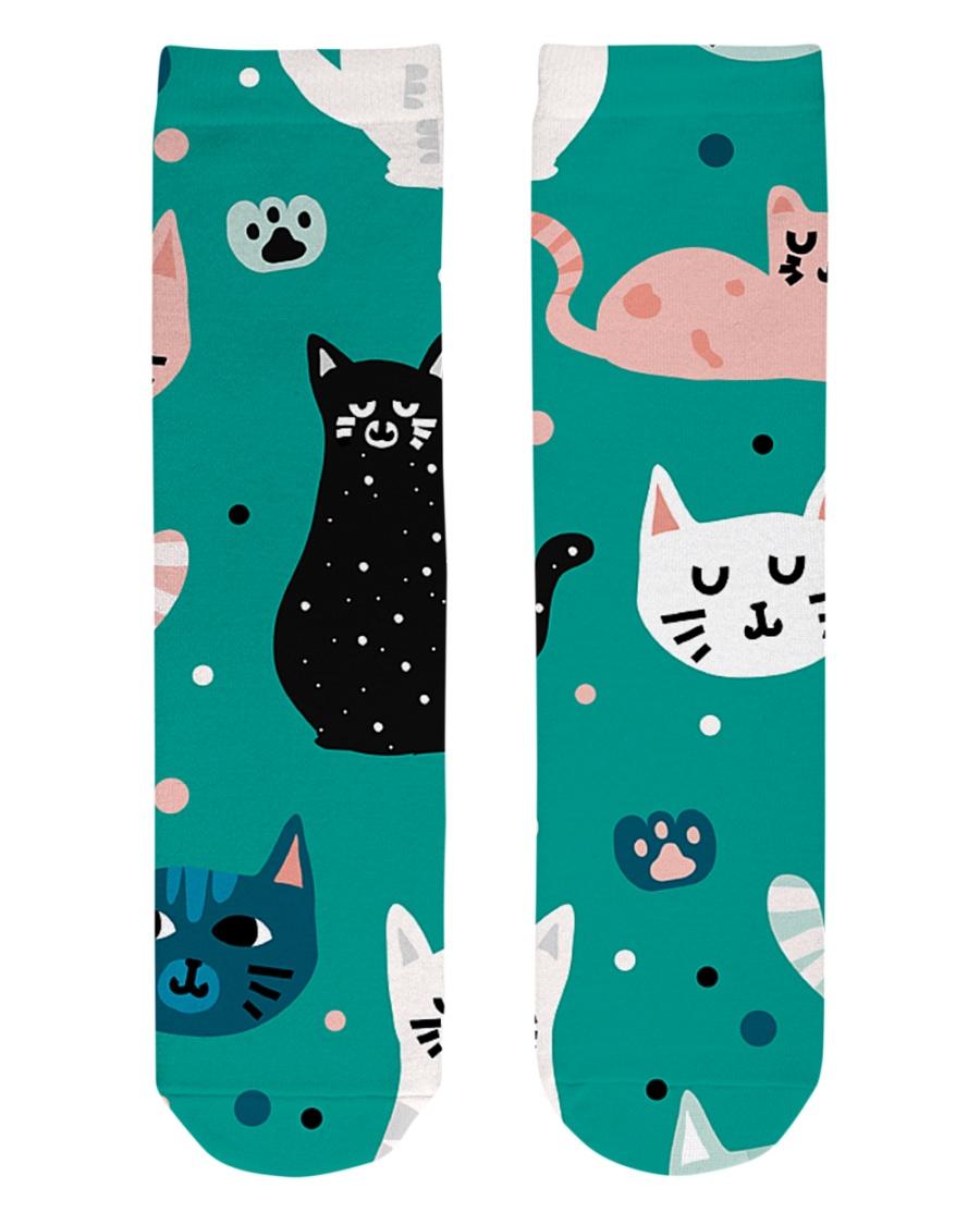 Beautiful Cat  Crew Length Socks