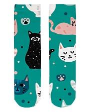 Beautiful Cat  Crew Length Socks front