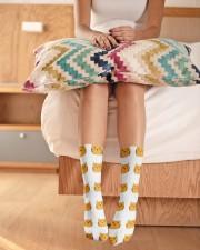 cute cat socks Crew Length Socks aos-accessory-crew-length-socks-lifestyle-front-01