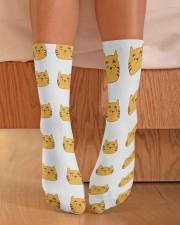 cute cat socks Crew Length Socks aos-accessory-crew-length-socks-lifestyle-front-02