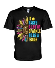 IT TAKES A LOT OF SPARKLE TO BE A TEACHER V-Neck T-Shirt thumbnail