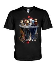 Halloween mirror V-Neck T-Shirt thumbnail