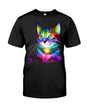 3D Lighting Cat Premium Fit Mens Tee thumbnail