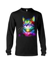 3D Lighting Cat Long Sleeve Tee thumbnail