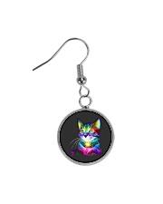 3D Lighting Cat Circle Earrings thumbnail