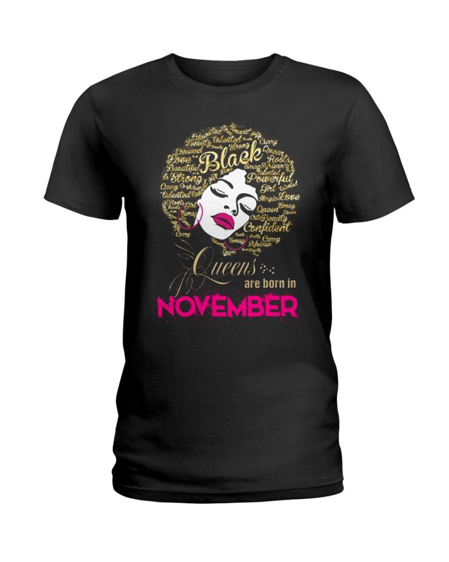 BLACK QUEENS ARE BORN IN NOVEMBER Ladies T-Shirt