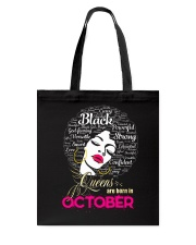 BLACK QUEENS ARE BORN IN OCTOBER Tote Bag thumbnail