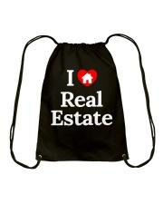 real estate shirt Drawstring Bag thumbnail