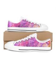 Purple Move Sneakers Men's Low Top White Shoes inside-left-outside-left