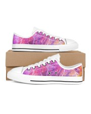 Purple Move Sneakers Men's Low Top White Shoes inside-right-outside-right