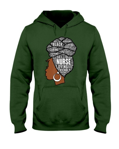 Africa Womens Nurse Natural Hair Afro Words