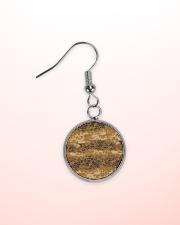 Austrian Jagdkommando pixeltarnung desert camo Circle Earrings aos-earring-circle-front-lifestyle-2
