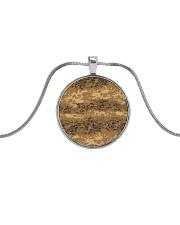 Austrian Jagdkommando pixeltarnung desert camo Metallic Circle Necklace thumbnail
