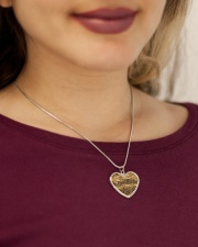 Austrian Jagdkommando pixeltarnung desert camo Metallic Heart Necklace aos-necklace-heart-metallic-lifestyle-1