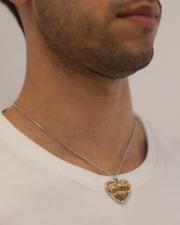 Austrian Jagdkommando pixeltarnung desert camo Metallic Heart Necklace aos-necklace-heart-metallic-lifestyle-2
