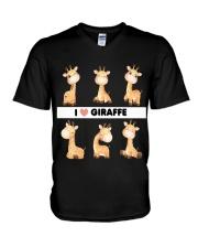 I LOVE GIRAFFE AMAZING GIFT V-Neck T-Shirt tile