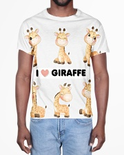 I LOVE GIRAFFE AMAZING GIFT All-over T-Shirt aos-all-over-T-shirt-lifestyle-front-02