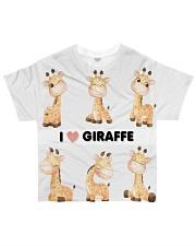 I LOVE GIRAFFE AMAZING GIFT All-over T-Shirt front