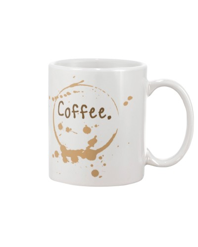 Coffee mug cup splatter
