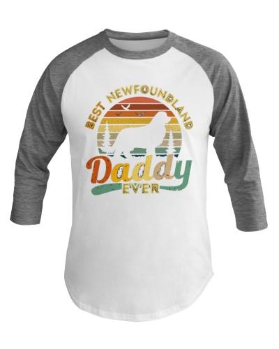 Dog Best Newfoundland Daddy Ever Vintage T-Shirt
