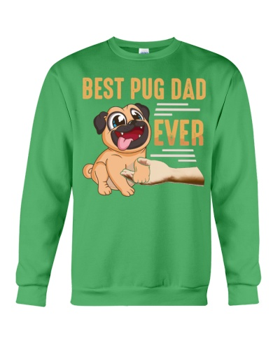 Best Pug Dad Ever Retro Vintage T-Shirt