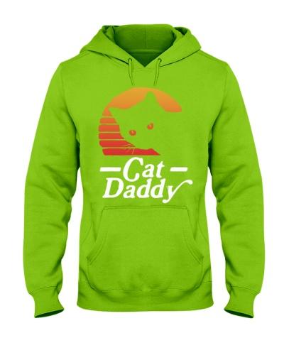 Cat Daddy  Eighties Style Cat Retro Distres
