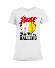 Busy Raising Ballers  Premium Fit Ladies Tee thumbnail