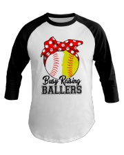 Busy Raising Ballers  Baseball Tee tile