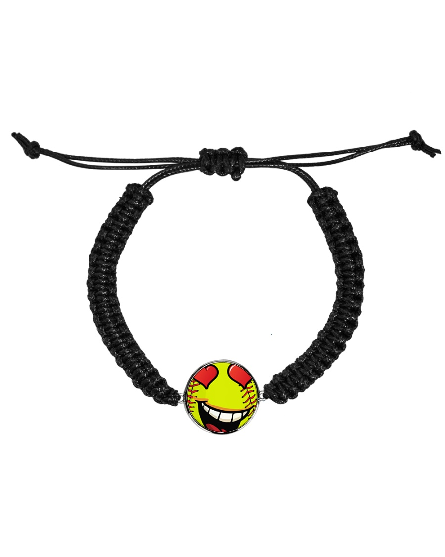 I love softball jewellery earrings and bracelet Cord Circle Bracelet