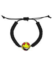 I love softball jewellery earrings and bracelet Cord Circle Bracelet front